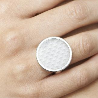 Bagues Avec Photo Cercle blanc de relief