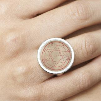 Bagues Avec Photo Deuxième pentagramme de Mars