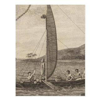 Baie de Matavia, Otaheite, Tahiti 2 Carte Postale