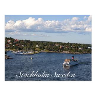 Baie de Stockholm Suède Carte Postale