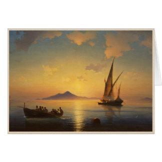 Baie de waterscape de paysage marin de Naples Ivan Carte