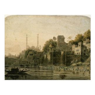 Baigner la scène chez le Ghat sur le Gange Cartes Postales