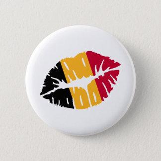 Baiser de drapeau de la Belgique Badge Rond 5 Cm