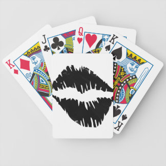 baiser de noir-marqueur-goth jeu de cartes