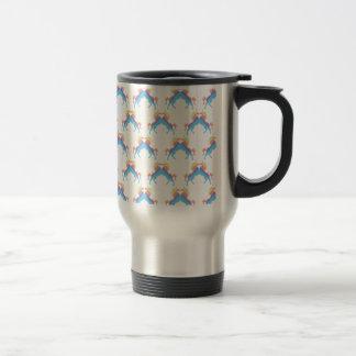 Baisers des licornes mug de voyage en acier inoxydable