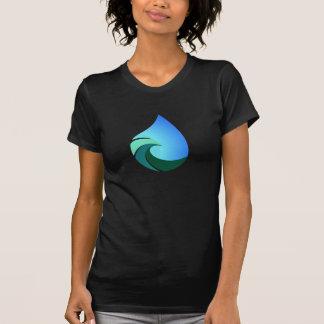 Baisse de l'eau de vague ce T-shirt salé de la vie