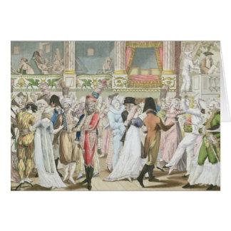 Bal costumé à l'opéra, après 1800 carte de vœux
