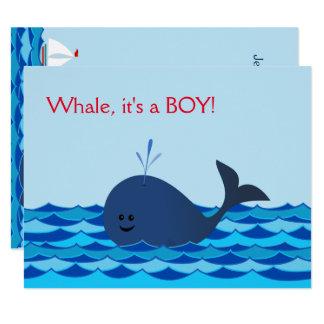 Baleine c'est un invitation de baby shower de