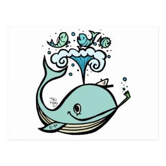 Baleine d'un capitaine ! par Tiki élégant Carte Postale
