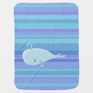 Baleine et couverture mignonne de bébé de rayures couvertures pour bébé