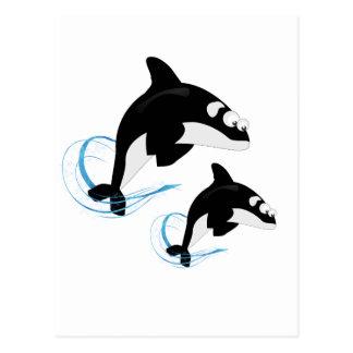 baleines carte postale