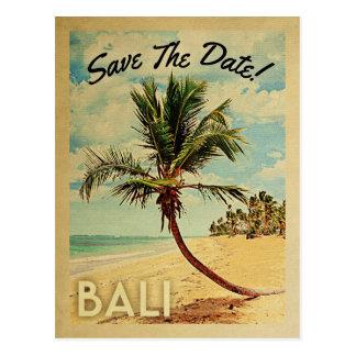 Bali bewaart de Datum de Vintage Palm van het Briefkaart