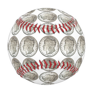 Balle De Baseball Base-ball de dollar en argent de Morgan