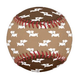 Balle De Baseball Base-ball de teckel pour des fans de chien de