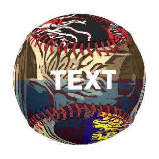 Balle De Baseball Beau résumé floral