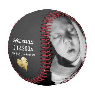 Balle De Baseball Le nouveau bébé a personnalisé un d'une sorte