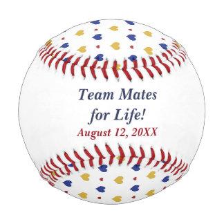 Balle De Baseball Les coeurs d'équipe ont personnalisé des nouveaux