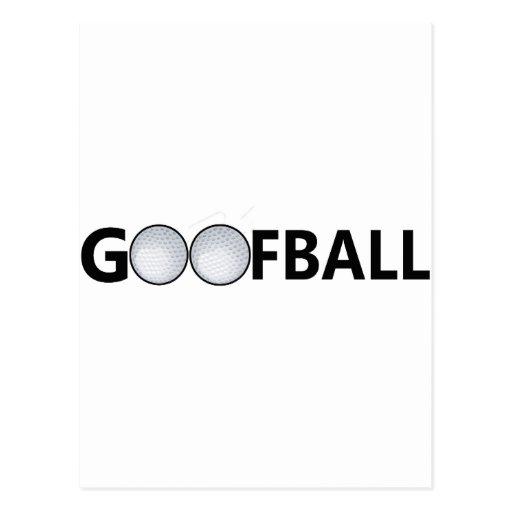 Balle de golf de Goofball Cartes Postales