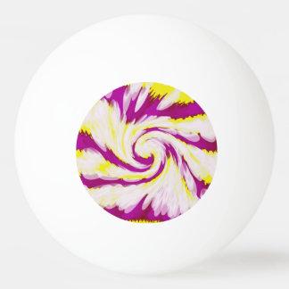 Balle De Ping Pong Abrégé sur blanc jaune rose super remous de TieDye