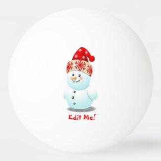 Balle De Ping Pong Bande dessinée drôle de bonhomme de neige de bébé