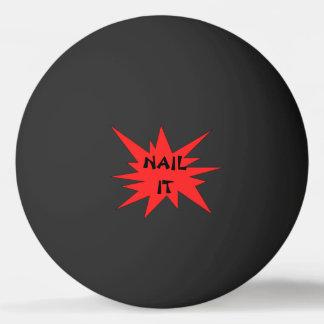 Balle De Ping Pong CLOUEZ-LE ! Boule de ping-pong noire et rouge