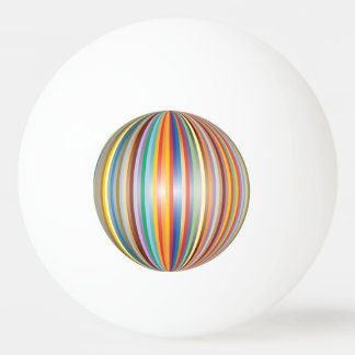Balle De Ping Pong Couleurs de l'arc-en-ciel