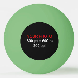 Balle De Ping Pong Créez votre propre boule de ping-pong verte