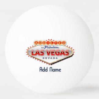 Balle De Ping Pong Dépendant signe drôle à Las Vegas, Nevada
