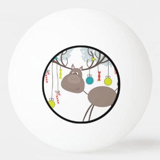Balle De Ping Pong Joyeuses Fêtes d'hiver de renne