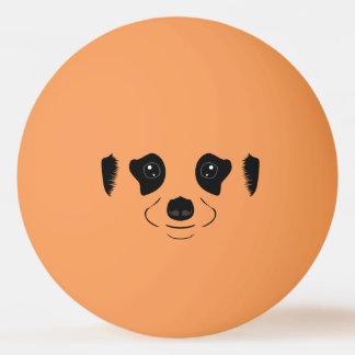 Balle De Ping Pong Meerkat font face à la silhouette