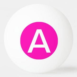 Balle De Ping Pong Personnaliser rose au néon de couleur solide il