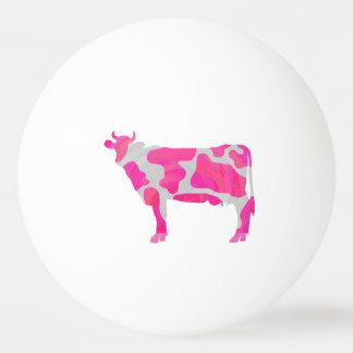 Balle De Ping Pong Silhouette de roses indien et de blanc de vache