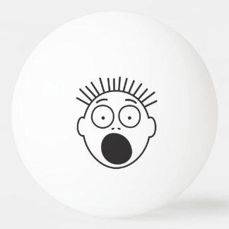 Balle De Ping Pong Visage effrayé drôle