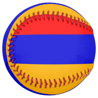 Balle De Softball Le base-ball patriotique avec le drapeau de