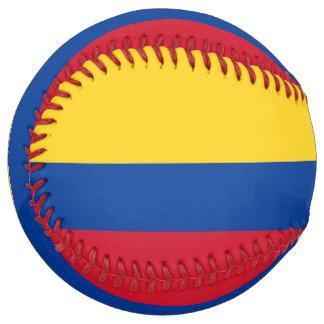 Balle De Softball Le base-ball patriotique avec le drapeau de la