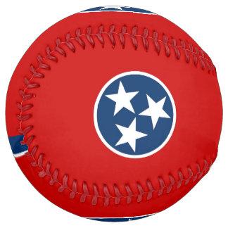 Balle De Softball Le base-ball patriotique avec le drapeau du
