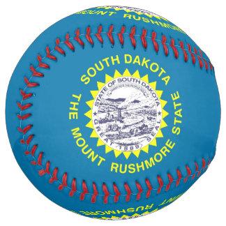 Balle De Softball Le base-ball patriotique avec le drapeau du Dakota