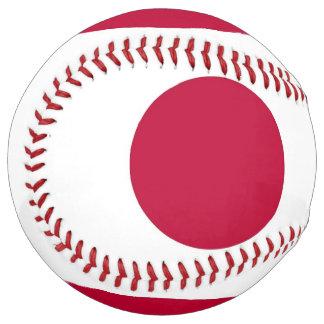 Balle De Softball Le base-ball patriotique avec le drapeau du Japon