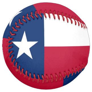 Balle De Softball Le base-ball patriotique avec le drapeau du Texas