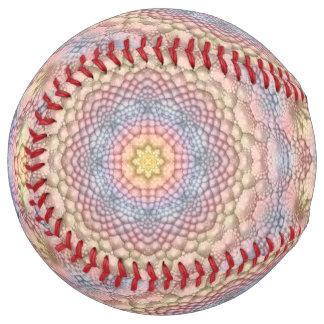 Balle De Softball Le base-ball vintage de kaléidoscope de pastels