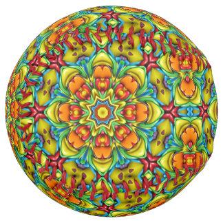 Balle De Softball Le base-ball vintage de kaléidoscope de rayon de