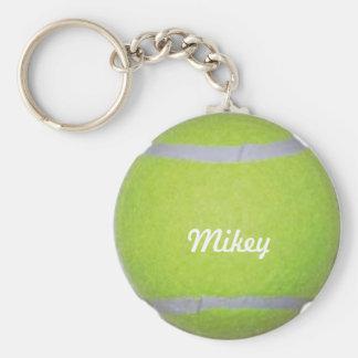 Balle de tennis personnalisable porte-clé rond