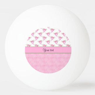 Balle Tennis De Table Arcs romantiques de rose et damassé assez rose