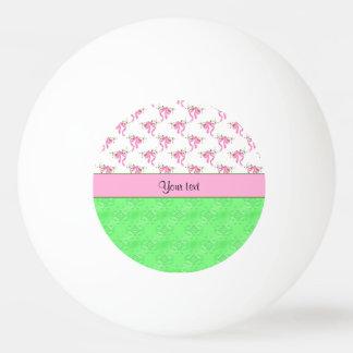 Balle Tennis De Table Arcs romantiques de rose et damassé verte
