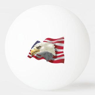 Balle Tennis De Table Boule de ping-pong de drapeau d'Eagle d'Américain