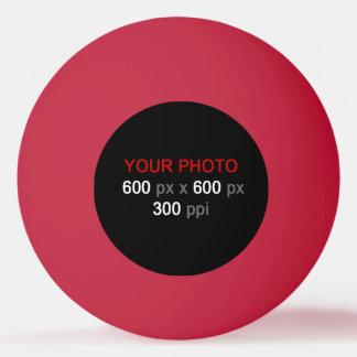 Balle Tennis De Table Créez votre propre boule de ping-pong rouge