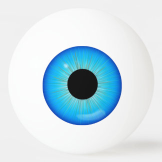 Balle Tennis De Table Globe oculaire bleu d'iris