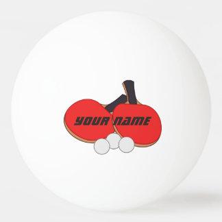 Balle Tennis De Table Noir rouge personnalisé de ping-pong