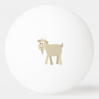Balle Tennis De Table Petite chèvre drôle mignonne