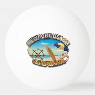 Balle Tennis De Table Plage de Newport, la Californie